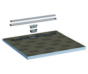 Lux Elements®-TUB-LINE Q1 900 Hartschaum Duschtassenelement